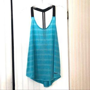 Aqua Blue Nike Dri Fit Tank Top - Size L